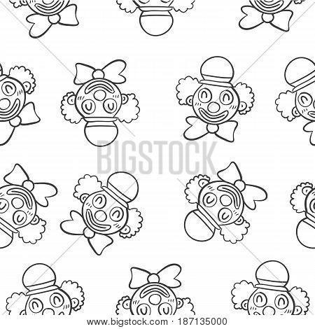 Hand draw clown circus doodles vector art