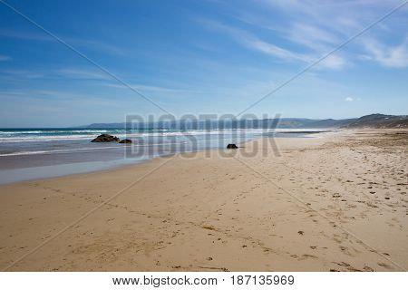 Aireys Inlet Beach at Fairhaven on a warm summers day in Victoria, Australia
