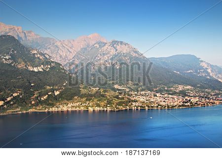 Como Lake And Alpine Montains, Italy.