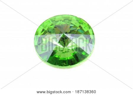 Green Glass Diamond Isolated