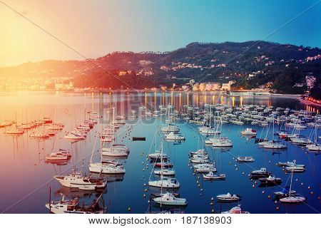 Yachts In The Harbor