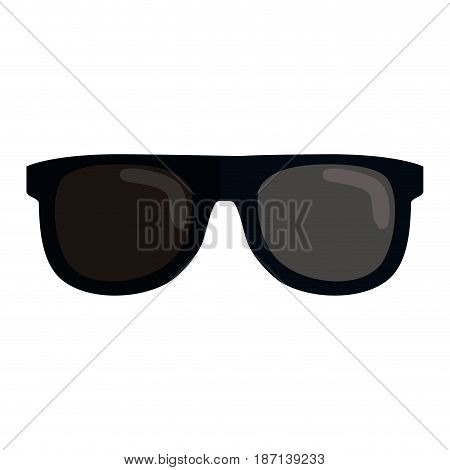 sunglasses icon over white background. vector illustration
