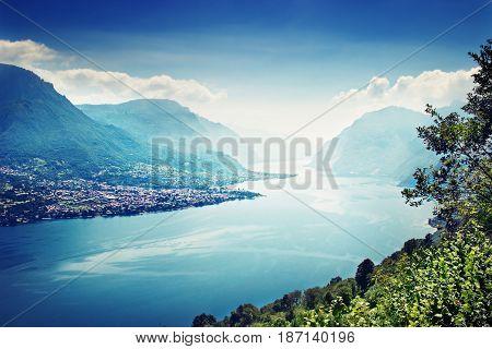 Como Lake And The Alps