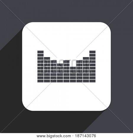 Sound flat design web icon isolated on gray background