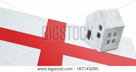 Small House On A Flag - England
