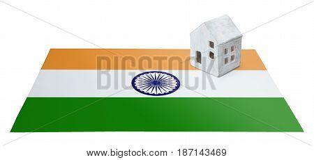 Small House On A Flag - India