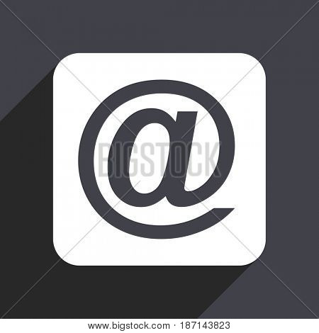 Email flat design web icon isolated on gray background