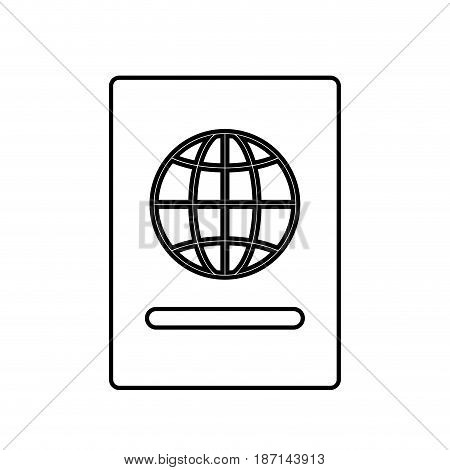 passport document icon over white background. vector illustration