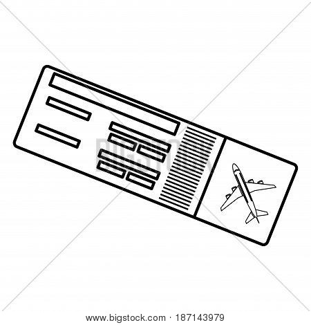 airplane ticket icon over white background. vector illustration