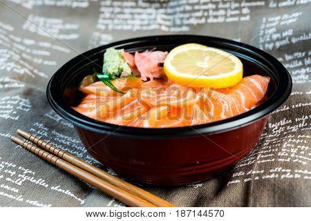 japanese foodSalmon Chirashi Rice Bowl
