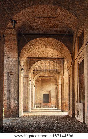 Arcade In Medieval Building
