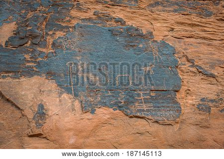 Mouse's Tank Petroglyphs In Valley Of Fire