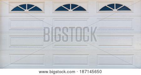 Cloe-up Garage Wood  Door Background / Texture