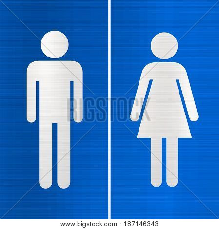 toilet sign blue wc restroom  women men