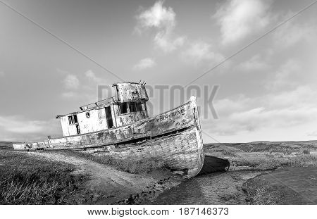 Shipwreck At Point Reyes California