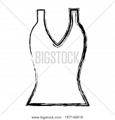 women's blouse icon over white background. vector illustration