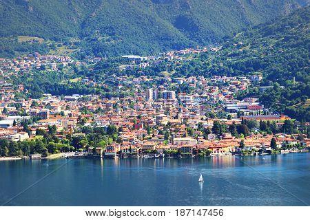 Mandello Del Lario, Como Lake Italy.
