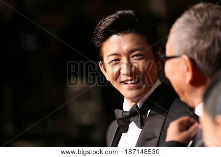 Takashi Miike, Takuya Kimura attend the 'Blade Of The Immortal (Mugen No Junin)' premiere during the 70th Cannes Film Festival at Palais on May 18, 2017 in Cannes, France.