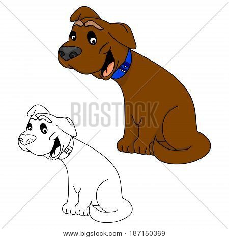 Funny puppy on a white background vector illustration
