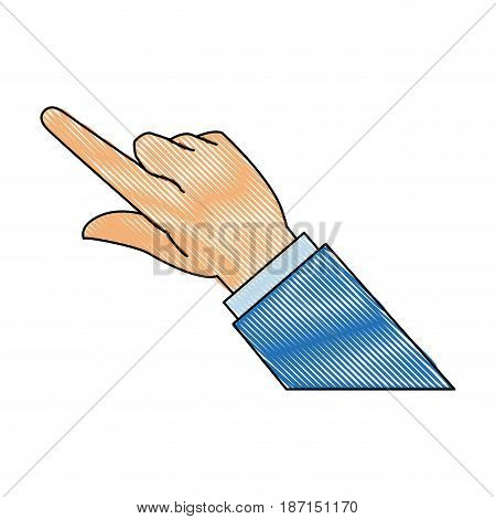 drawing business man finger hand pointing image vector illustration