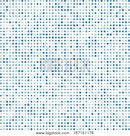 Poster Blue Circles With Transparency. Banner Balls Of Different Sizes. Abstract White Background. H