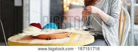 Woman Making Diy Decorations