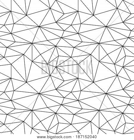 Geometric monochrome background. Black and white seamless pattern. Vector