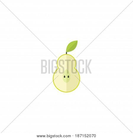 Flat Pear Element. Vector Illustration Of Flat Duchess Isolated On Clean Background. Can Be Used As Pear, Duchess And Fruit Symbols.
