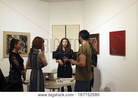 BUCHAREST ROMANIA - May 18 2017: The opening ceremony of the 4th edition of Art Safari the annual exhibition focusing on the development of contemporary art.