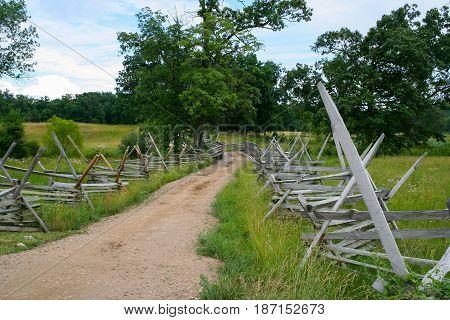 Dirt Road on the Gettysburg Civil War Battleground