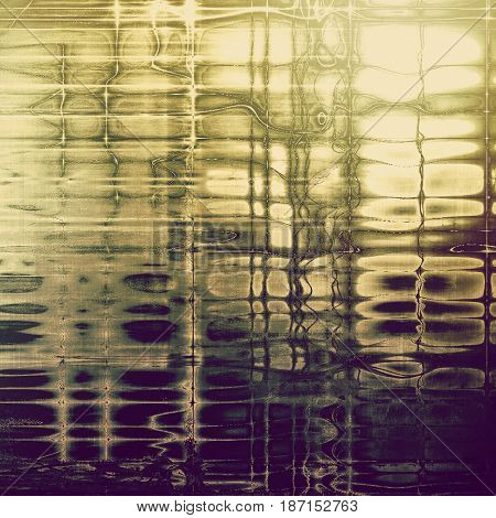 Grunge texture or background with retro design elements and different color patterns: yellow (beige); brown; green; gray; purple (violet)