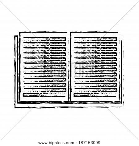open book learn literature library sketch vector illustration
