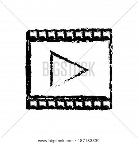 strip film play cinema movie symbol sketch vector illustration