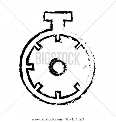 chronometer sport watch timer competition sketch vector illustration