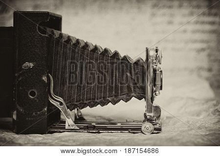 vintage camera, rare item. tinted in Sepia