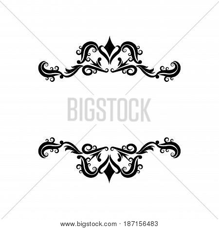 vignette decorative crest ornate flourish vector illustration