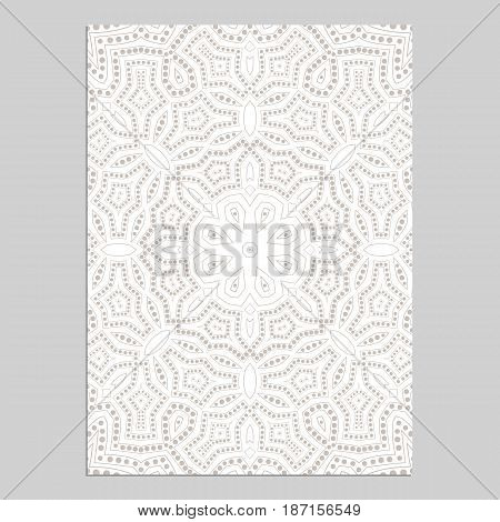 Template for greeting and business cards, brochures, covers with floral motifs. Oriental lace pattern. Mandala. Wedding invitation, save the date,RSVP. Arabic, Islamic, asian, indian, african motifs.