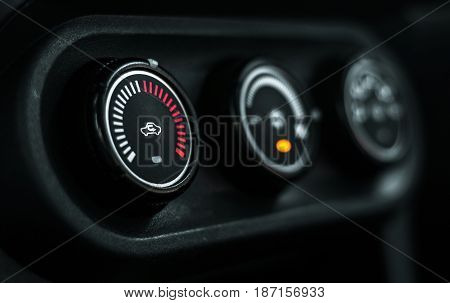 Car control condition system dashboard. side view.