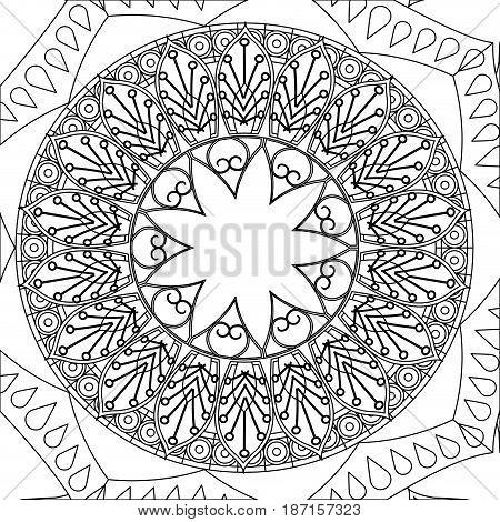 vintage mandala meditation decoration scheme vector ilustration