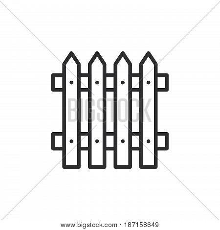 Plank fence line icon outline vector sign linear style pictogram isolated on white. Symbol logo illustration. Editable stroke. Pixel perfect