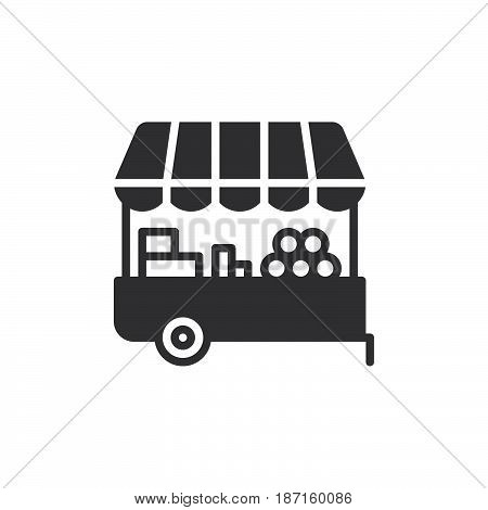 Farmer stall icon vector filled flat sign solid pictogram isolated on white. Symbol logo illustration. Pixel perfect