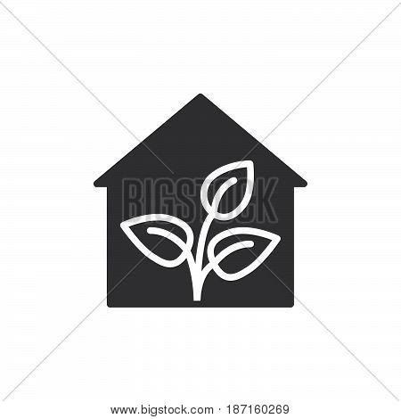 Greenhouse icon vector filled flat sign solid pictogram isolated on white. Symbol logo illustration. Pixel perfect