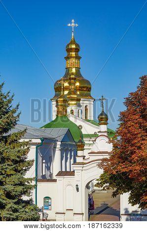 Church of famous Kiev Pechersk Lavra Monastery Ukraine
