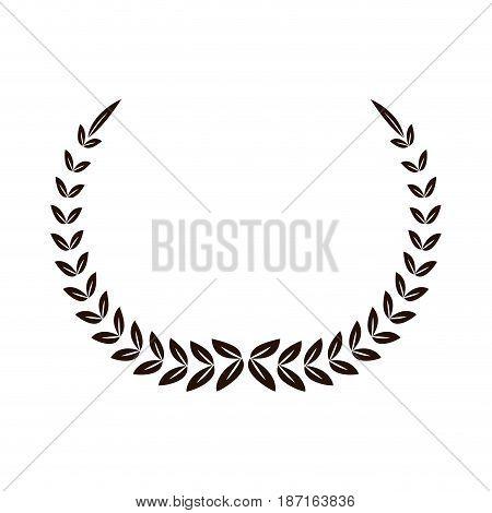 laurel decoration ornament sport symbol vector illustration