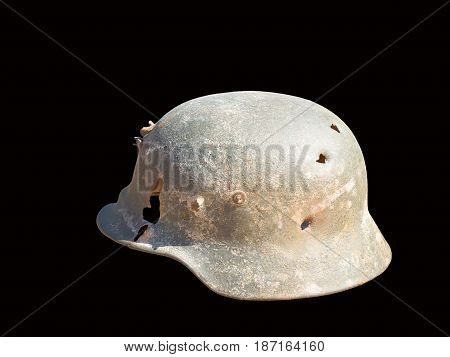 The old German helmet that would protect your head from bullets.