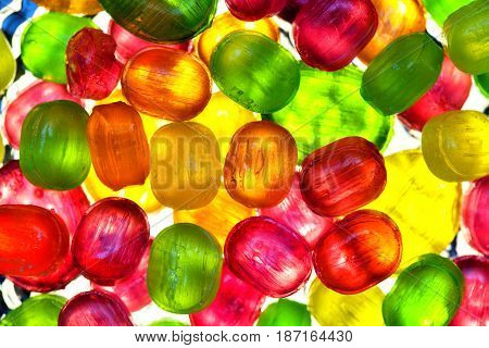 The background from scattering of multicolored candy