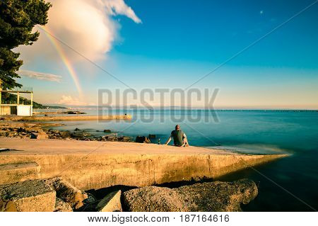 Rainbow In The Gulf Of Trieste
