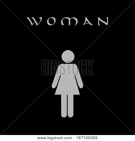 Female figure toilette on black background to concept a sale concept