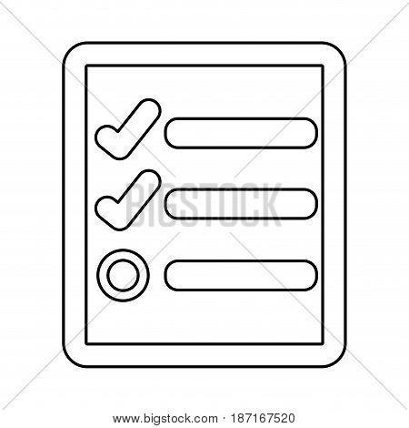Checklist document sheet icon vector illustration graphic design