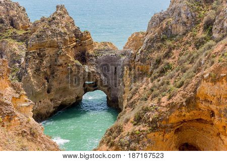 Cliffs of Ponta da Piedade, Lagos, Algarve, Portugal